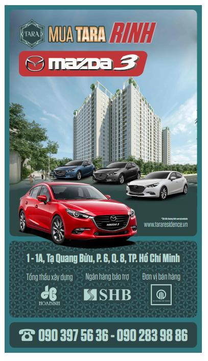 Cơ hội nhận Mazda 3 khi sở hữu căn hộ Tara Residence - Ảnh 1.