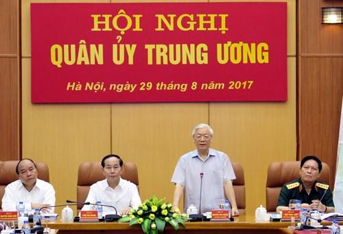 Tổng Bí thư Nguyễn Phú Trọng chủ trì hội nghị Quân ủy Trung ương - Ảnh 1.