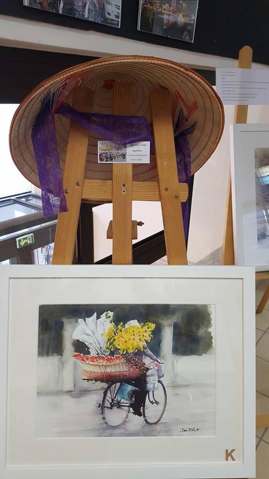 Họa sĩ Pháp triển lãm tranh về Việt Nam tại bảo tàng quê nhà - Ảnh 1.