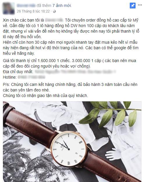 Bán đồng hồ, nước hoa bằng lòng thương trên Facebook - Ảnh 1.