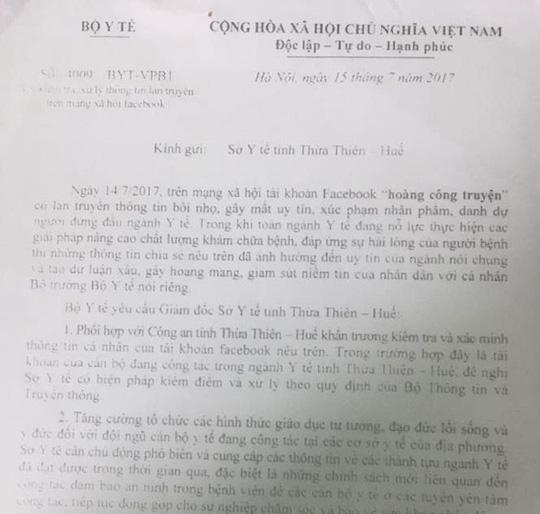 Bộ trưởng TT-TT yêu cầu rút phạt bác sĩ Truyện vụ nói xấu Bộ trưởng Y tế - Ảnh 2.