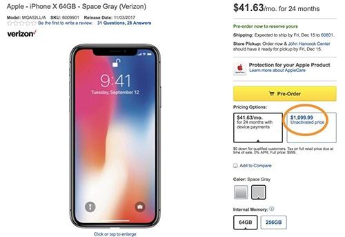 Người dùng Mỹ phẫn nộ vì iPhone X đội giá 100 USD - Ảnh 1.