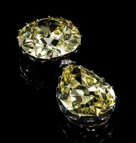 Ngắm hai viên kim cương vàng lớn nhất thế giới đấu giá hôm nay - Ảnh 2.