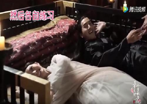 Hậu trường hài hước của những cảnh nóng trong phim Trung Quốc - Ảnh 3.