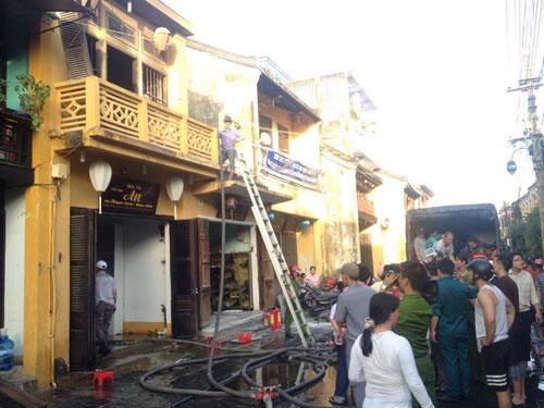 Hiện trường vụ cháy nhà cổ số 76 Nguyễn Thái Học (TP Hội An) vào tháng 11-2016
