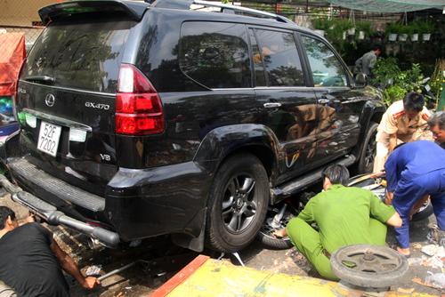 Hiện trường vụ tai nạn do Phương gây ra