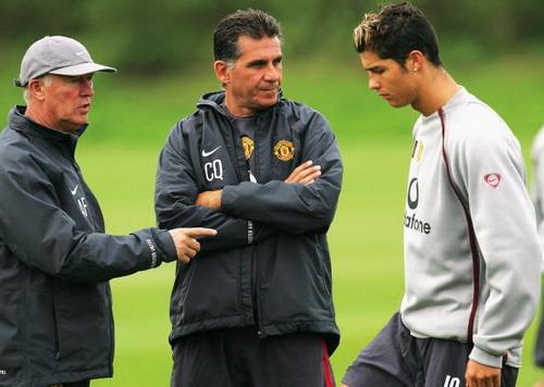 HLV Carlos Queiroz và Ronaldo ở tuyển Bồ Đào Nha