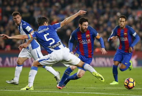 Một ngày Messi bị hàng thủ Leganes đeo bám...