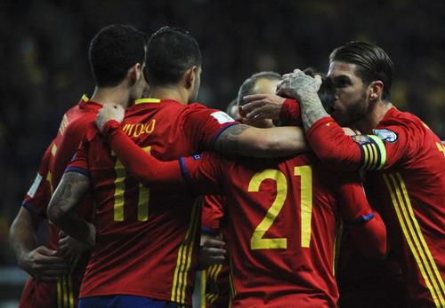Niềm vui chiến thắng của Tây Ban Nha
