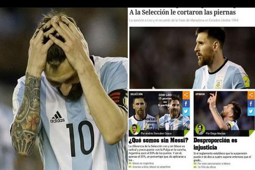 Messi lãnh án treo giò, cả làng cầu Argentina phát sốt