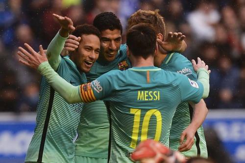 Niềm vui chiến thắng của đội bóng xứ Catalan