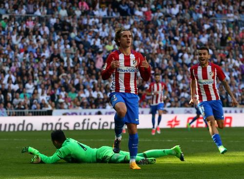 Antoine Griezmann ghi bàn, giúp Atletico bất bại 4 trận liên tiếp ở Bernabeu
