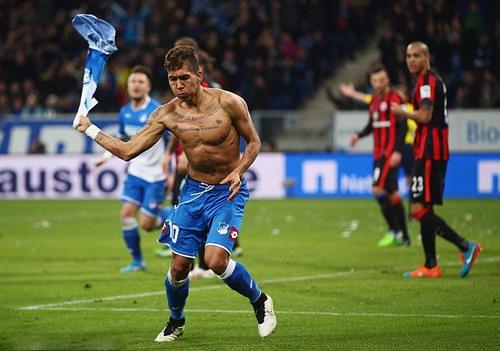 Firmino từng 4 lần bị phạt khi còn thi đấu ở Hoffenheim (Bundesliga)