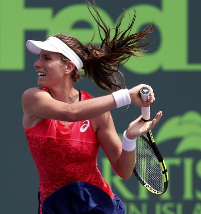 Johanna Konta đáp trả mạnh mẽ vởi 33 điểm winner toàn trận