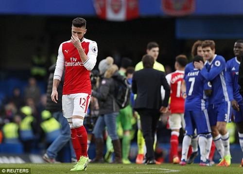 Thất bại trước Chelsea khiến Arsenal kém đối thủ này đến 12 điểm