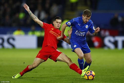 Coutinho ghi bàn danh dự cho Liverpool
