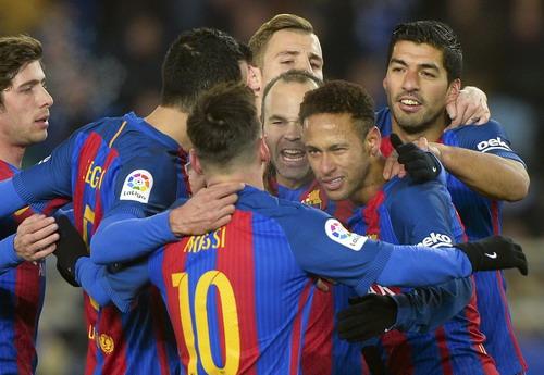 Niềm vui chiến thắng của Barcelona