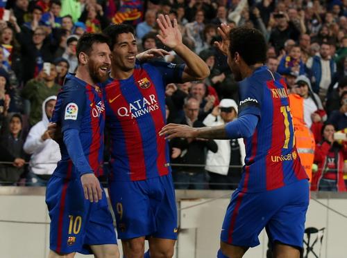 Suarez, Neymar và Messi đem lại sức mạnh vốn có cho Barcelona