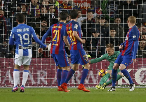 Unai Lopez gỡ hòa cho đội khách ở phút 71