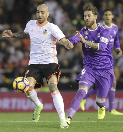 Zaza mở tỉ số từ phút thứ 4 cho Valencia