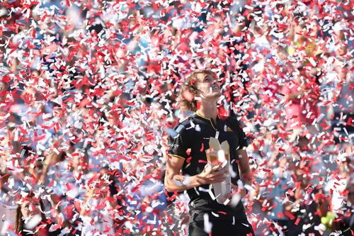 Hạ tượng đài Federer, sao trẻ Zverev đăng quang Rogers Cup - Ảnh 5.