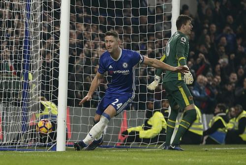Cahill ghi bàn ấn định chiến thắng 2-0 cho Chelsea