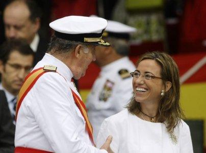 Bà Carmen Chacon - nữ bộ trưởng quốc phòng đầu tiên của Tây Ban Nha. Ảnh: Reuters