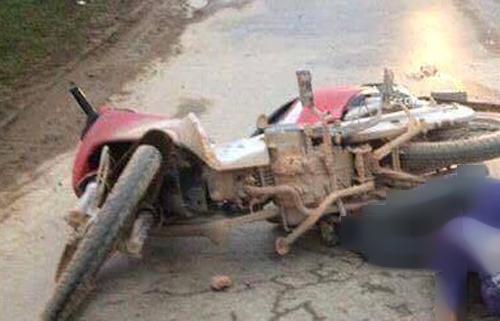 Hiện trường vụ tai nạn thương tâm xe tải cán chết thiếu nữ 16 tuổi - Ảnh: Tú Nguyễn