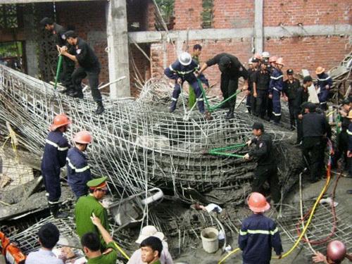 Một vụ tai nạn lao động nghiêm trọng xảy ra trong ngành xây dựng