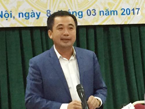 Ông Trần Đức Thắng, Cục trưởng Cục Quản lý Công sản - Bộ Tài chính, tại cuộc họp ngày 8-3