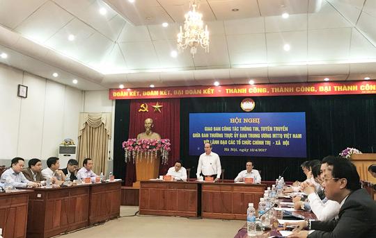 Chủ tịch MTTQ Việt Nam Nguyễn Thiện Nhân khẳng định trong phiên họp Chính phủ tới đây sẽ có ý kiến chính thức dự thảo không cho ngụy trạng ghi âm, ghi hình - Ảnh: Văn Duẩn