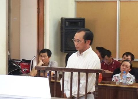 Ông Nguyễn Ngọc Thư tại phiên tòa sơ thẩm