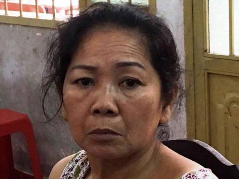 Bà Hồ Thị Ngọc Điệp tại cơ quan công an