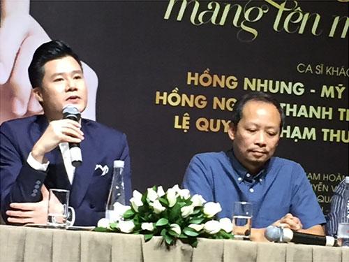 """Ca sĩ Quang Dũng và đạo diễn Phạm Hoàng Nam tại buổi họp báo công bố chương trình """" Giấc mơ mang tên mình"""""""