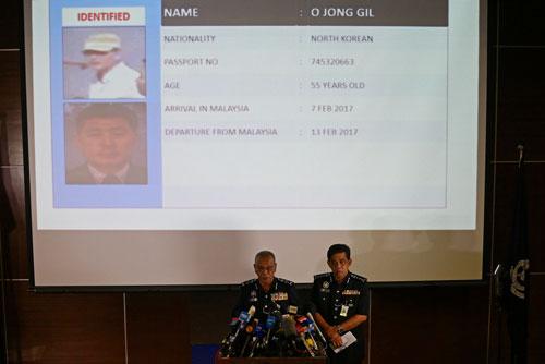 Cuộc họp báo về vụ ông Kim Jong-nam ngày 19-2 Ảnh: Reuters