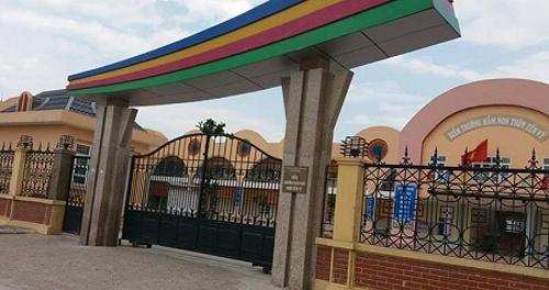 Trường mầm non Hương Sơn, nơi xảy ra sự việc cô giáo bỏ quên bé gái 4 tuổi đến tối muộn