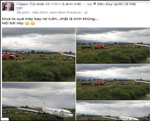 Người phụ nữ bán mỹ phẩm tung tin máy bay rơi ở Nội Bài - Ảnh 1.
