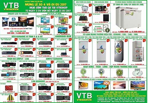 Thông tin sản phẩm giảm giá tại VTBShop