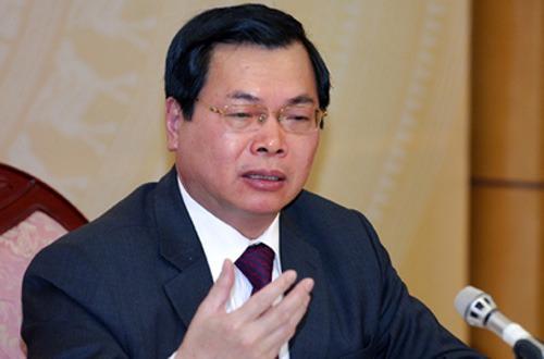 Quốc hội được Ban Bí thư TƯ Đảng đề nghị chỉ đạo thực hiện xử lý kỷ luật về hành chính đối với ông Vũ Huy Hoàng, nguyên Bộ trưởng Bộ Công Thương