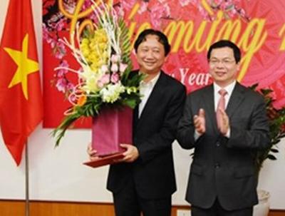 Ông Trịnh Xuân Thanh trong một nhận lần nhận khen thưởng do lãnh đạo Bộ Công thương trao