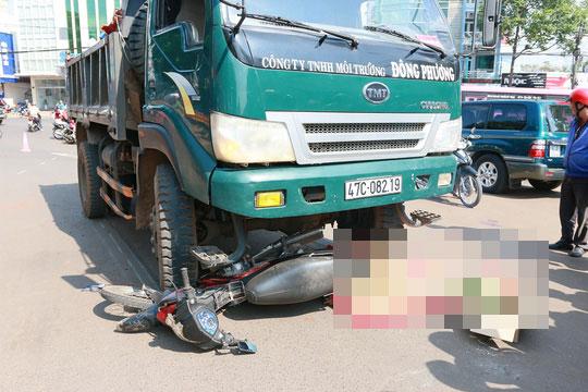Hiện trường vụ tai nạn làm 1 người tử vong