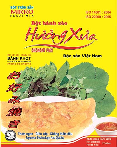 Bột bánh xèo Hương Xưa của thương hiệu bột trộn sẵn MIKKO đang bị làm nhái trên thị trường