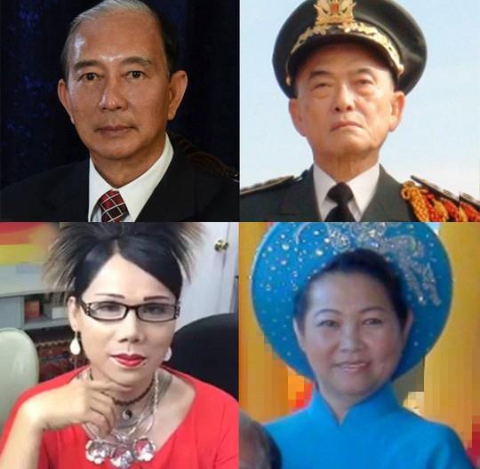 Từ trái sang, từ trên xuống: Đào Minh Quân (Đào Văn); Quách Thế Hùng; Phạm Lisa (Phạm Anh Đào); Kelly Triệu (Triệu Thanh Hoa)