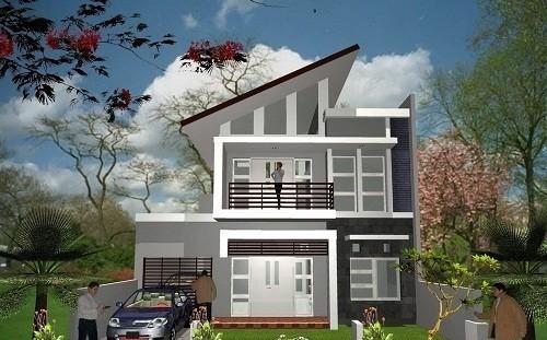 10 mẫu nhà 2 tầng mái lệch đẹp hiện đại - Ảnh 5.