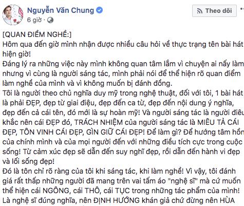 Nhạc sĩ Nguyễn Văn Chung: Nghệ sĩ đừng hùa theo khán giả! - Ảnh 1.