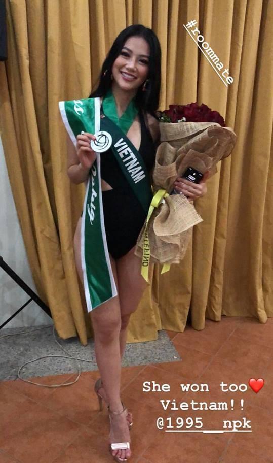 Hoa hậu Trái đất 2018: Nhan sắc Việt đoạt HCB phần thi áo tắm - Ảnh 1.