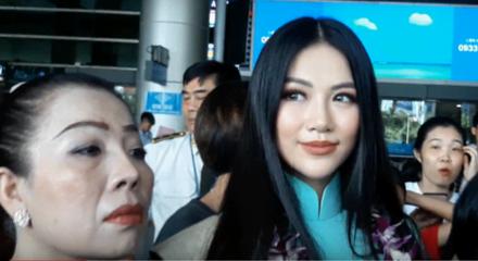 Tân Hoa hậu Trái đất xinh đẹp ngày trở về Việt Nam - Ảnh 1.