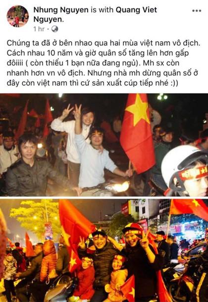 Bức ảnh chuyện tình qua hai mùa vô địch AFF Cup - Ảnh 1.