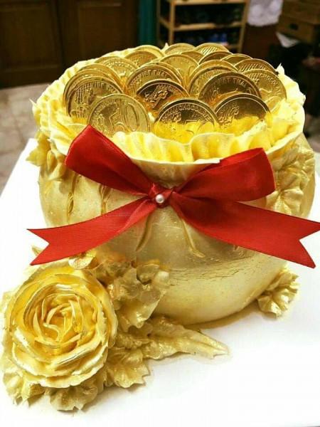 Món ăn dát vàng 24k gây tò mò trong ngày Thần Tài - Ảnh 4.