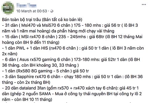 Dân cày Bitcoin Việt Nam méo mặt vì giá - Ảnh 2.